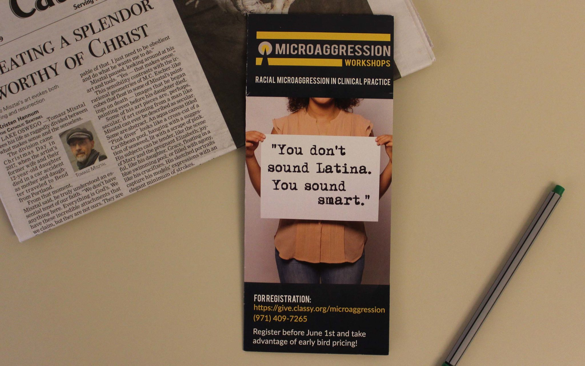 Microaggression Workshop brochure