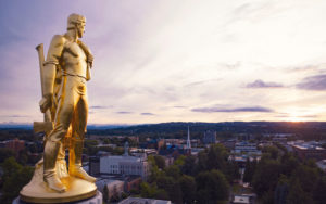 View from the State Capitol in Salem