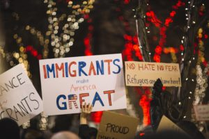 Pro-immigrant protest signs
